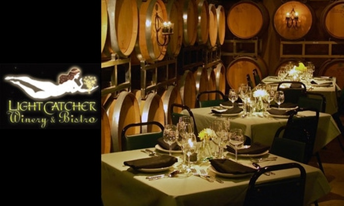 LightCatcher Winery & Bistro - Fort Worth: $20 for a Two-Person Tasting and $20 Worth of Bistro Fare at LightCatcher Winery & Bistro (Up to $50 Value)
