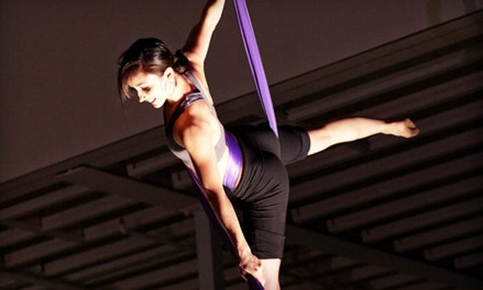 AWOL: Dance Collective - Portland: Intro to Aerial Fabric and Low Trapeze Course or Aerial Yoga or FlyFit Classes at AWOL: Dance Collective (Up to 53% Off)