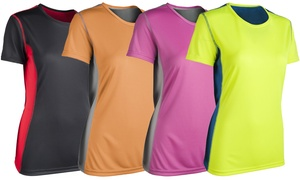 Zorrel Women's Color Block Active Tee. Plus Sizes Available.