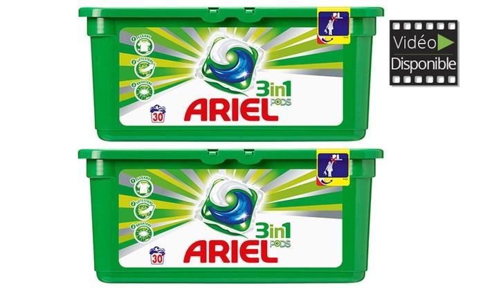 60, 180 ou 240 pods Ariel Regular 3 en 1, dès 27,90€
