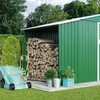 Metal Shed and Log Store