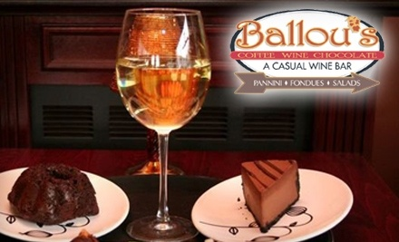 $25 Groupon to Ballou's Wine Bar - Ballou's Wine Bar in Guilford