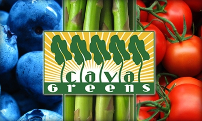 Cava Greens - Multiple Locations: $5 for $11 Worth of Healthy Salad Creations at Cava Greens