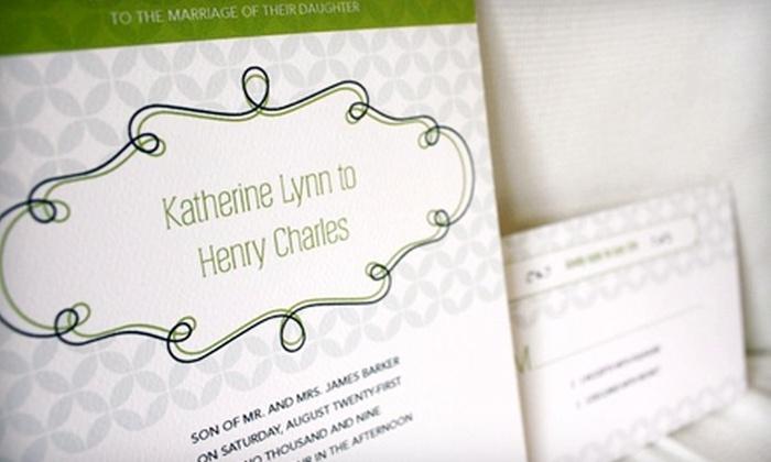 Uniquity Invitations: $39 for a Wedding Invitation Template from Uniquity Invitations ($79 Value)