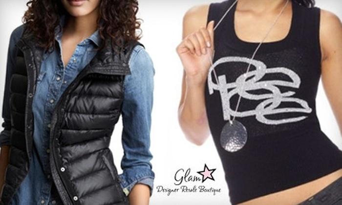 Glam Designer Resale Boutique - Multiple Locations: $15 for $35 Worth of Attire at Glam Designer Resale Boutique in Greenwood