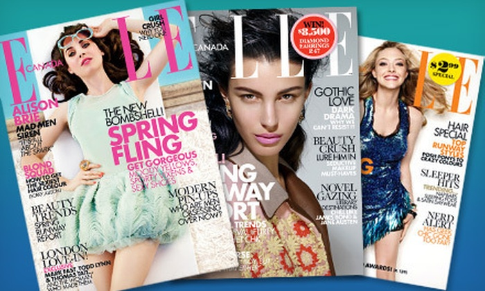 "Elle Canada: $5 for a One-Year Subscription to ""Elle Canada"" Magazine ($12 Value)"