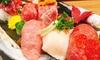 3,000円/名|赤身ステーキや肉寿司など計7品+飲み放題120分