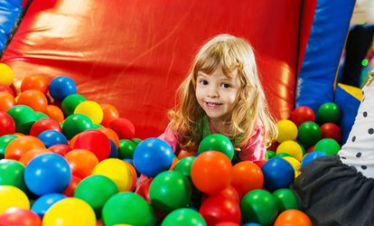 image for Soft Play Area Entry for Up to Six with a Meal Each (Tue-Thu) at Jungle Kids (Up to 74% Off)