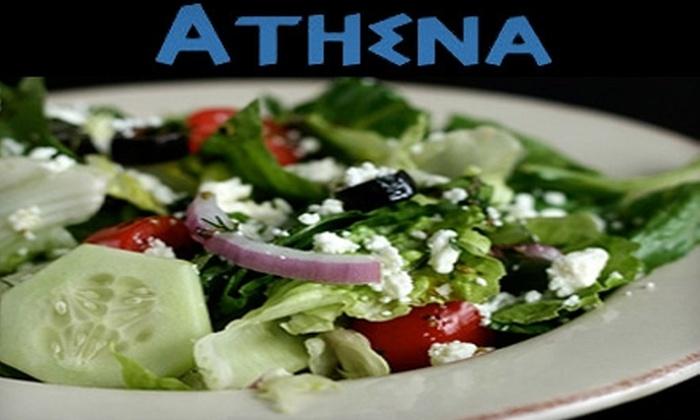Athena Greek & Lebanese Grill - Cedar Grove, Lynbrook: $10 for $20 Worth of Mediterranean Fare and $2 Off Hookah at Athena Greek & Lebanese Grill