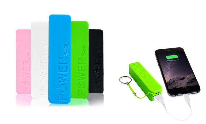 Portachiavi powerbank 2600 mAh disponibile in 5 colori da 3 € (fino a 90% di sconto)