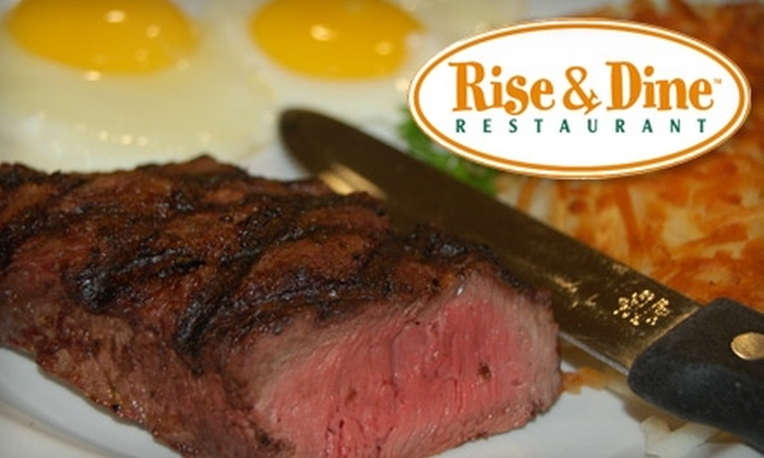 Rise and Dine Restaurant - Multiple Locations: $5 for $10 Worth of Fresh Breakfast and Lunch Fare at Rise & Dine Restaurant