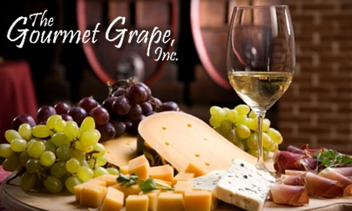 The Gourmet Grape - Lakeview: $40 for Wine and Cheese Tasting for Two and One Take-Home Bottle of Wine at The Gourmet Grape ($90 Value)