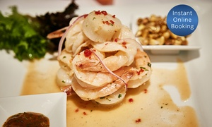 Inca's Restaurant Cafe And Bar: Two-Course Peruvian Meal + Wine for Two ($59) or Four People ($117) at Inca's Restaurant Café and Bar (Up to $262 Value)