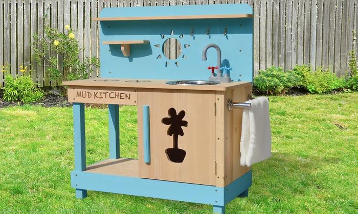 Bis zu 2% Rabatt Holz-Spiel-Küche für Kinder | Groupon