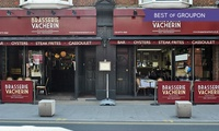 Brasserie Vacherin Croydon: Three-Course French Dining Experience with Wine And Coffee for One or Two (Up to 48% Off)