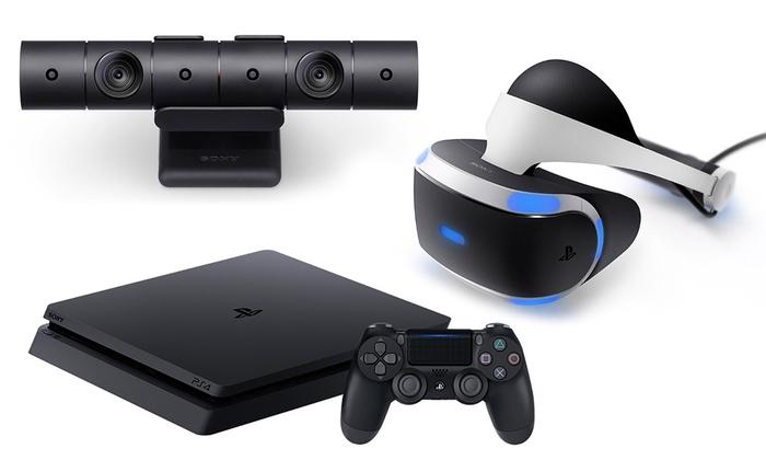 Groupon Goods Global GmbH: Playstation 4 Slim disponibile da 500GB o 1TB con o senza 2 controller, PS VR, Camera da 269,99 € (fino a 11% di sconto)