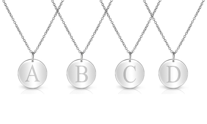 cae98228b25 18K Gold Plated Initial Necklace | Groupon Goods