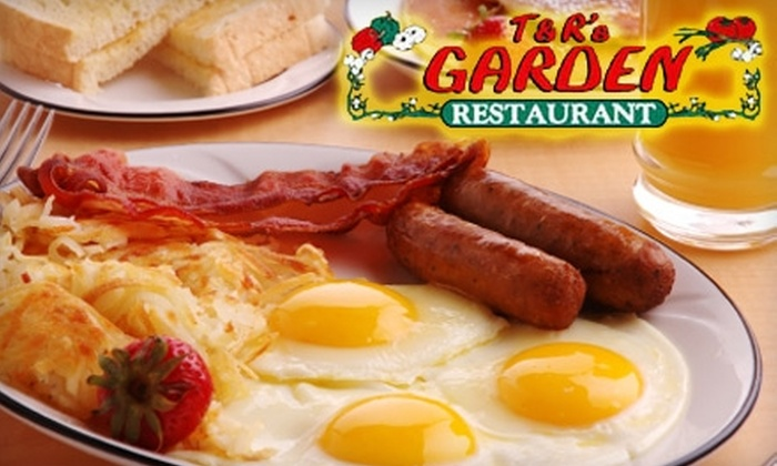 T & R's Garden - Sunset Acres: $5 for $10 Worth of Breakfast and Lunch or $7 for $15 Worth of Dinner at T & R's Garden