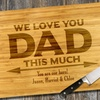 Up to 81% Off Personalized Bamboo Cutting Board for Dad