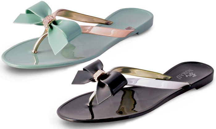 93a91fcd2 Nomad Footwear Women s Bow Jelly Sandals