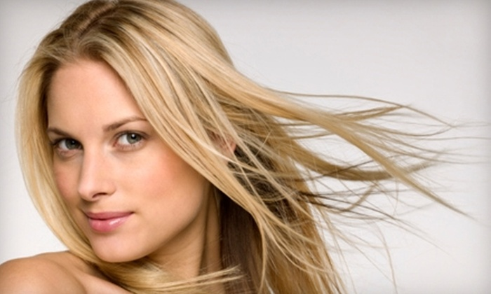 Tim Jon Salon  - Multiple Locations: $99 for a Brazilian Blowout (Up to $350 Value) or $70 for a Haircut and Full Highlights (Up to $195 Value) at Tim Jon Salon