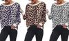 Top imprimé léopard pour femme
