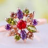 Women's Flower Ring in 18K Gold Plating Made with Swarovski Elements