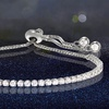 Adjustable Tennis Bracelet Made with Swarovski Elements