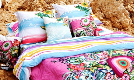Desigual Reversible Cotton Duvet Cover Set With Free Delivery