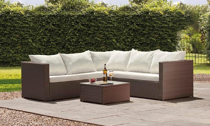 Incredible Miami Rattan Corner Sofa Set Groupon Cjindustries Chair Design For Home Cjindustriesco