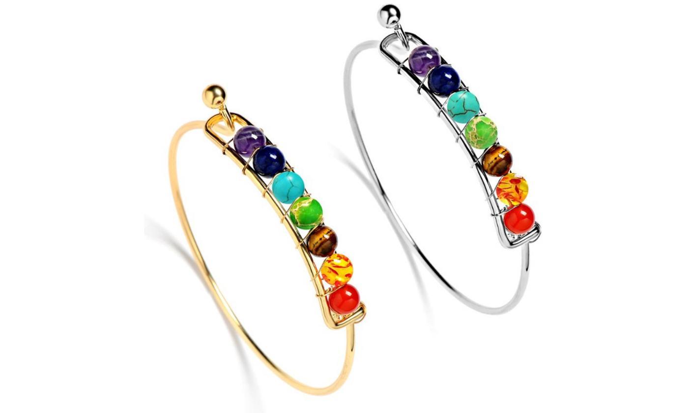 Seven-Chakra Bangle Bracelet