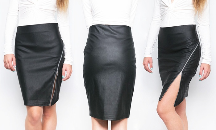 44542cb1450d Women s Side Zip Pencil Skirt