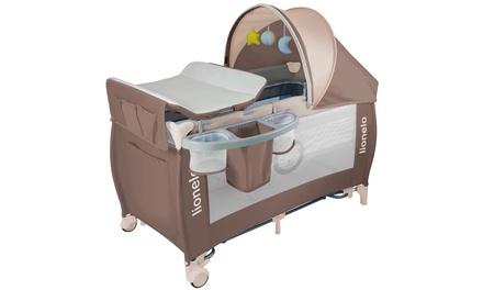 Lit de bébé portable Lionelo Sven avec table à langer