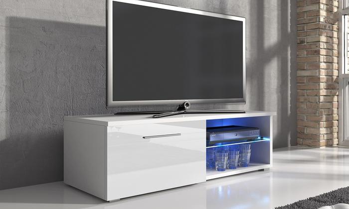tv meubel met ledverlichting groupon. Black Bedroom Furniture Sets. Home Design Ideas
