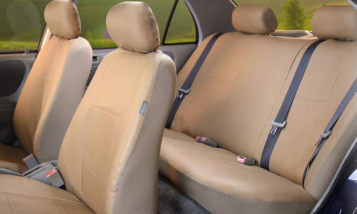 Wondrous Up To 59 Off On Faux Leather Car Seat Covers Groupon Goods Theyellowbook Wood Chair Design Ideas Theyellowbookinfo