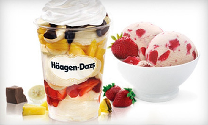 Häagen-Dazs & Popcorn Palace - Multiple Locations: $5 for $10 Worth of Gourmet Popcorn or Ice Cream at Häagen-Dazs & Popcorn Palace