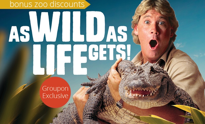 Steve Irwin's Australia Zoo: 1-Day or 2-Day Child, Adult or Pensioner Tickets with Bonus Discounts (Up to $56 Value)