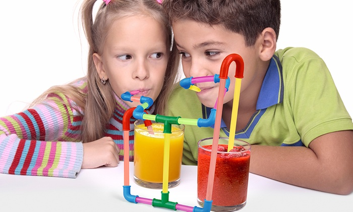 80-Piece Fun Straws Set for Kids (1- or 2-Pack)