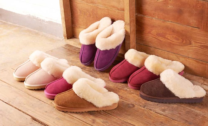 Women's Sheepskin Slippers for £24.98 With Free Delivery (72% Off)