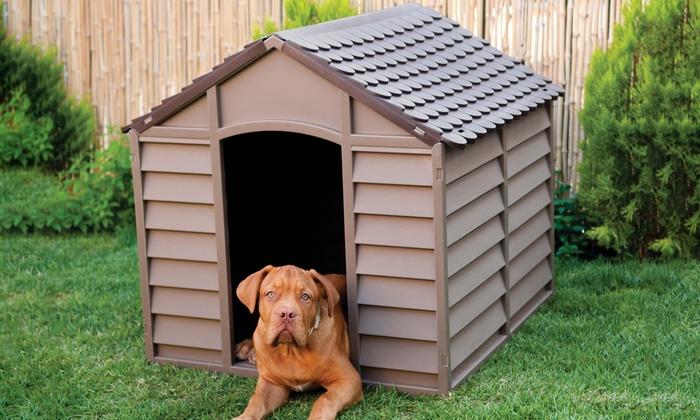 Starplast plastic dog kennel groupon goods for Best deals on dog kennels