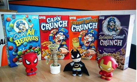 Menú para 2 o 4 con bol mediano de cereales, topping y bebida de leche desde 3,95 € en Cereal Superhero