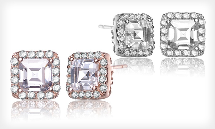 Simulated-Diamond Earrings: Simulated-Diamond Earrings (Up to 85% Off). Four Styles Available.