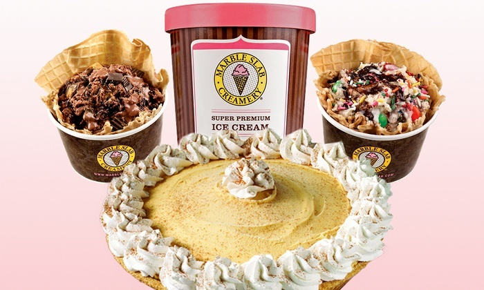 Marble Slab Creamery - Multiple Locations: Ice Cream, Ice Cream Pies, or Other Frozen Treats at Marble Slab Creamery-Multiple Locations (Up to 46% Off)