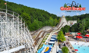 Six Flags The Great Escape — 32% Off at The Great Escape & Splashwater Kingdom, plus 9.0% Cash Back from Ebates.