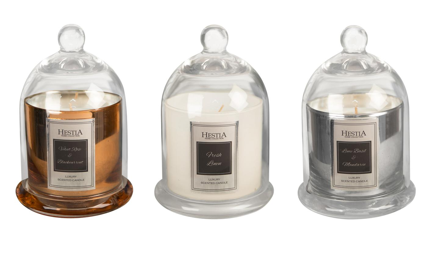 One, Two or Three Hestia Cloche Candle Jars