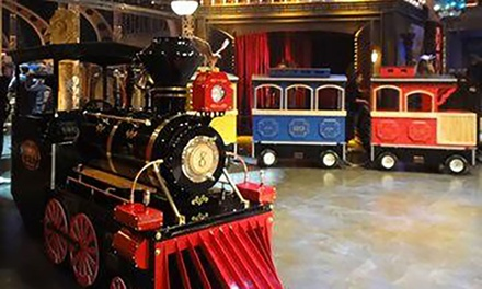 Trackless Train Rides for Two or Four, or Punch Pass for Five Rides at Polar Bear Express Train (Up to 44% Off)
