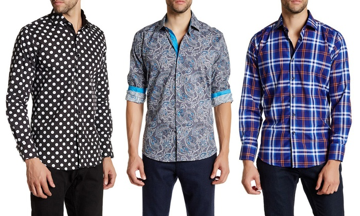 Suslo Couture Men's Casual Button Down Shirt | Groupon