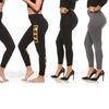 Coco Limon Women's Fleece-Lined Printed Leggings (4-Pack)