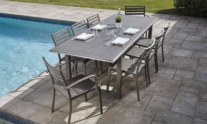 Table jardin rallonge + fauteuils | Groupon Shopping