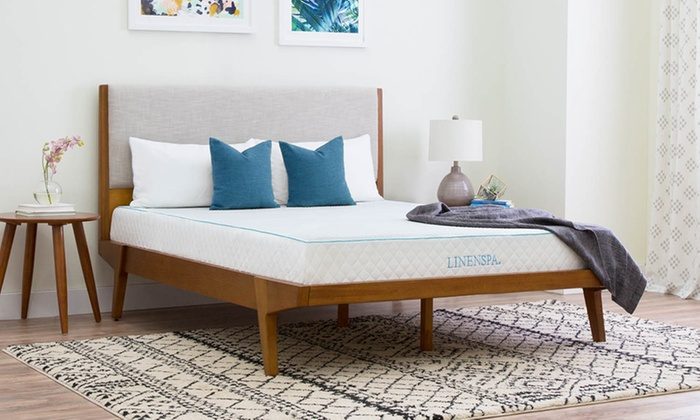 Linenspa 8 Gel Memory Foam Mattress Groupon